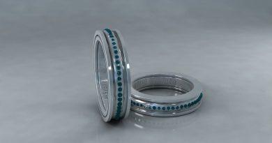 сребърни въртящи пръстени